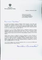 List Prezydenta RP z okazji Inauguracji działalności Instytutu Kultury Spotkania i Dialogu