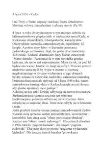 thumbnail of 70 rocznica pogromu. Przemówienie Bogdana Białka