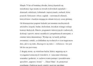 thumbnail of 70 rocznica pogromu. Przemówienie Yaakova Kotlickiego